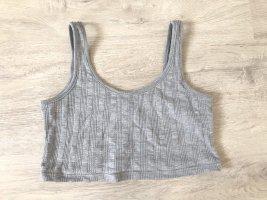 Topshop Top corto grigio chiaro