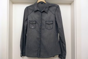 Pimkie Denim Shirt dark grey