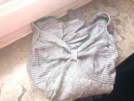 Graues Langarmshirt mit Schleifendetail-Größe 34-Preis VB