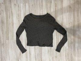 Brandy & Melville Camicia cropped grigio-grigio scuro