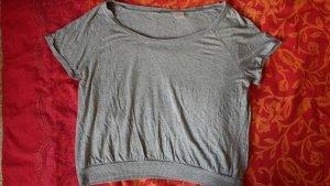 Graues Shirt Bauchfrei