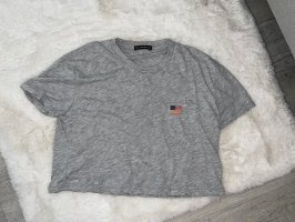 Brandy & Melville T-shirt court gris-gris clair
