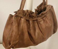 0039 Italy Hobos bronze-colored-cognac-coloured leather