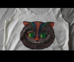 Grinsekatze Shirt Alice im Wunderland