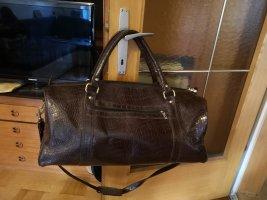 groß Leder Tasche / Reisetasche