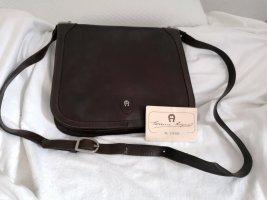 Große Aigner Vintage Tasche Schultertasche Crossover Braun Zertifikat