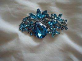 Broche bleu fluo