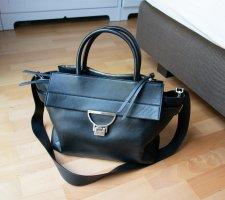 Große Coccinelle Tasche Arlettis schwarz Leder Echtleder Business Office