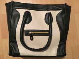 große Handtasche Tasche Shopper schwarz weiß
