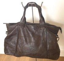 große Lederhandtasche braun Rehard Vintage