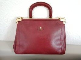 Große Luxus Vintage Kelly Bag Henkeltasche Arzttasche Schultertasche Tasche Bordeaux Echt Messing undLeder