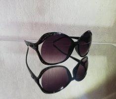 Oval Sunglasses black-silver-colored