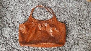Große Tasche geflochten Shopper Uni cognac Handtassche