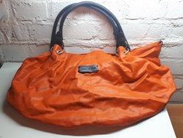 Shopper orange leather