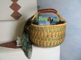 Vintage Bolso tipo cesta multicolor