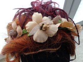 Bijoux pour la tête beige-vert fibre textile