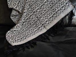 H&M Divided Sjaal met franjes wit-zwart