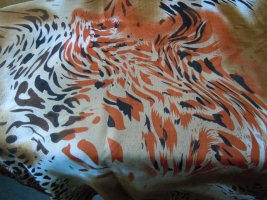 Écharpe tube brun-rouille polyester
