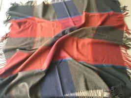 ascot Châle au tricot gris-rouge brique laine