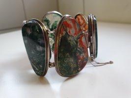 Großes Silberarmband mit Steinen