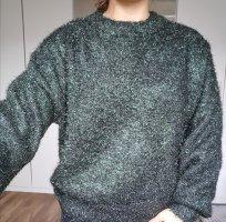 Grün schwarzer Pullover neu