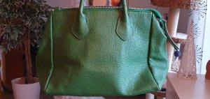 Grüne Handtasche, echtes Leder