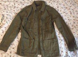 Topshop Denim Jacket khaki-green grey
