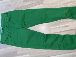 Zara Basic Jeansy z prostymi nogawkami zielony