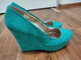 Charlotte Russe Wedge Pumps forest green