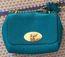 Mulberry Crossbody bag cadet blue-petrol leather