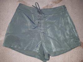 grüne Satin Hotpants S