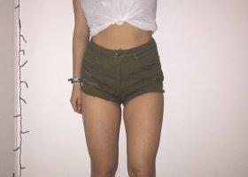 H&M Divided High waist short olijfgroen-groen-grijs