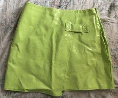 Diffuse Skórzana spódnica zielony neonowy-zielona łąka