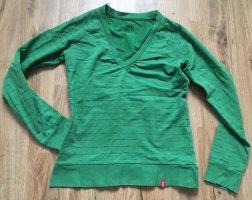 Edc Esprit Maglione con scollo a V verde-verde bosco