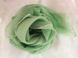 Handarbeit Panno di seta verde-verde chiaro
