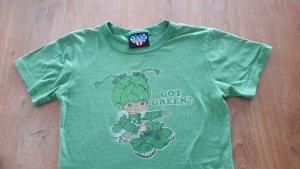 Grünes Shirt im Vintagelook mit Print