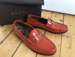 Gucci Scarpa slip-on marrone-rosso-ruggine Pelle