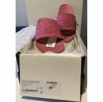 Gucci Heel Pantolettes pink