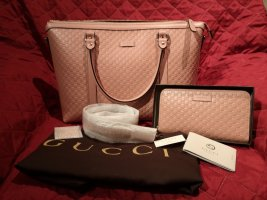 Gucci Handtas stoffig roze