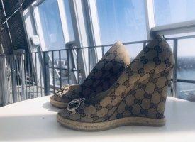 Gucci Buty na platformie brązowy