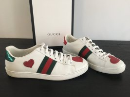 Gucci Sneakers met veters wit-bordeaux