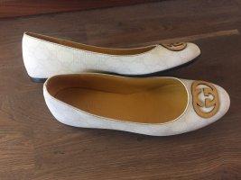 Gucci Ballerina Mary Jane bianco-giallo-oro