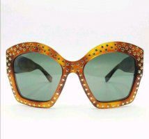 Gucci Butterfly Glasses bronze-colored-gold-colored