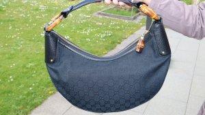 Gucci Canvas Bambus Ring Hobo Bag