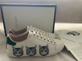 Gucci Lace-Up Sneaker white mixture fibre