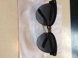 Gucci Lunettes papillon noir-doré métal