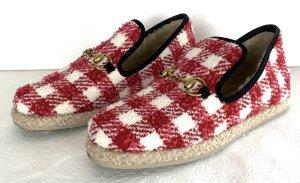 Gucci Mokasyny ciemnoczerwony-biały Wełna