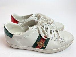 Gucci Basket à lacet blanc cuir