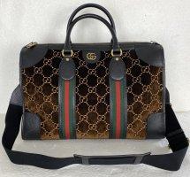 Gucci, Duffle Bag, Braun-Schwarz, Velvet-Leder, Neu, € 1.900,-