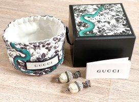 Gucci Zarcillo color plata-blanco puro